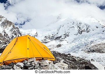 Everest Base Camp and tent