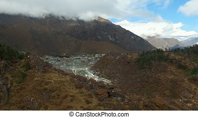 Everest basecamp trek view - Khumjung view. The village is...