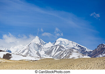 Everest in the Himalayas, Tibet.