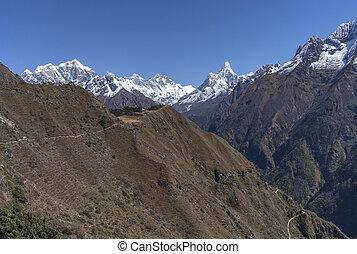 Everest, Lhotse and Ama Dablam summits in Nepal