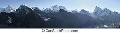 Everest Mountain Panorama