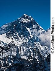 Everest Mountain Peak or Sagarmatha with 8848 m height