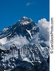 Everest Mountain Peak or Sagarmatha - top of the world - ...