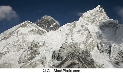 Everest, Nuptse and Lhotse mountains view from Kala Patthar in Himalaya, Nepal