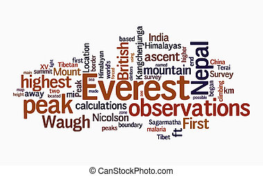 everest, texto, nube