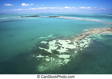 Everglades. - Everglades National Park from above.