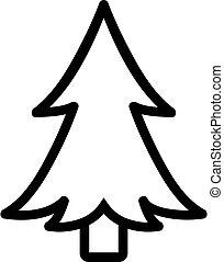 evergreen Christmas tree icon vector. Isolated contour symbol illustration