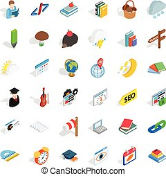 Every day icons set, isometric style - Every day icons set....