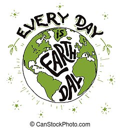 Every day is Earth day holiday card