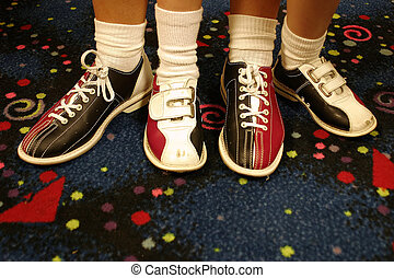 Every Other - Two pair of bowling shoes..adult and child.