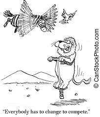 everybody, ma, ubiegać się, ptak, zmiana