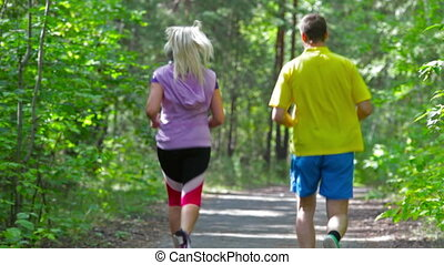 Everyday activity - Active couple starting their day with...