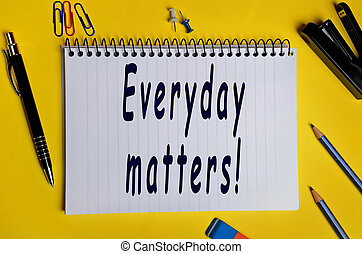 Everyday matters words