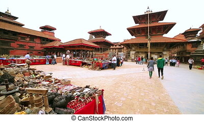 Everyday scene at patan Durbar Square, Kathmandu, Nepal,