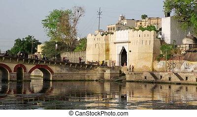 Everyday traffic on bridge, Udaipur - Everyday city life...