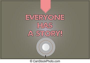 everyone, art conter, colorez photo, planner., concept, vide, story., soucoupe, tasse, mémoires, contes, ton, texte, encliqueter, a, café, signification, fond, dire, reflet, écriture, vue dessus