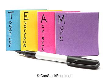 everyone, ensemble, réalise, stylo, équipe, plus