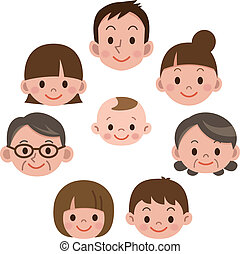 everyone, famille heureuse, sourire