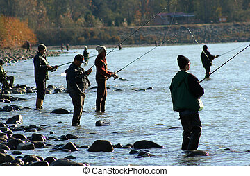 Everyone is Fishing - A group of anglers try their luck on...