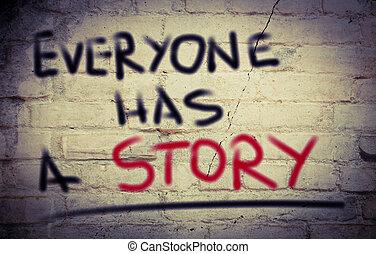 everyone, kap, egy, sztori, fogalom