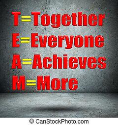 everyone, mur, ensemble, réalise, béton, plus