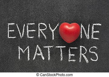 everyone, questões, coração