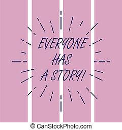 everyone, storytelling, fénykép, kinyújtás, squares., story., ki, radiates, emlékezőtehetség, tales, írás, jegyzet, kap, rövid napsütés, ügy, kiállítás, gerenda, háttér, sokatmondó, -e, megvonalaz, híg, showcasing