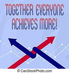 everyone, success., business, photo, projection, acquérir, ensemble, écriture, réalise, conceptuel, collaboration, atteindre, coopération, showcasing, more., main