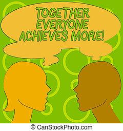 everyone, success., business, photo, projection, acquérir, ensemble, écriture, réalise, collaboration, atteindre, coopération, texte, conceptuel, more., main