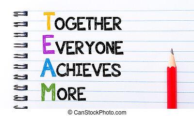 everyone, texte, ensemble, réalise, équipe, plus