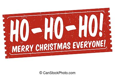 everyone, timbre, noël, joyeux, signe, ou, ho-ho-ho!