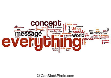 Everything word cloud concept