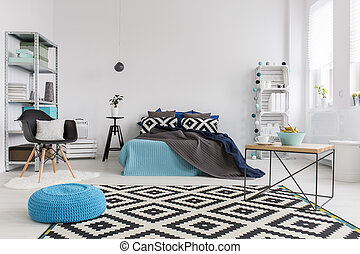 Everything you need to relax - Shot of a modern cosy and...