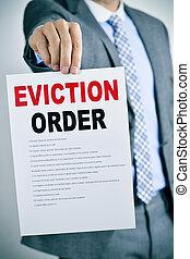 evicção, ordem, homem