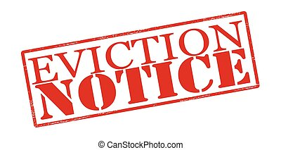 Eviction notice - Rubber stamp with text eviction notice ...