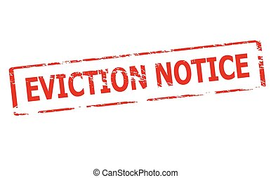 Eviction notice - Rubber stamp with text eviction notice...