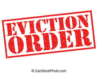 EVICTION ORDER red Rubber Stamp over a white background.
