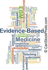 evidence-based, médecine, ebm, fond, concept
