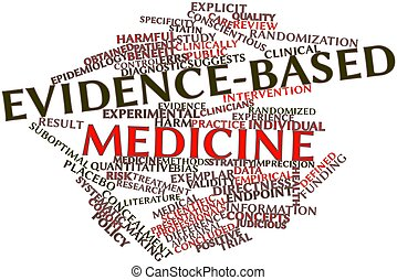 Evidence-based medicine - Abstract word cloud for...