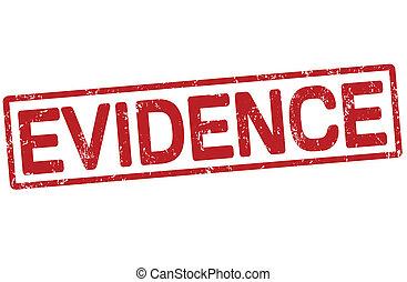 Evidence grunge office rubber stamp on white background, vector illustration