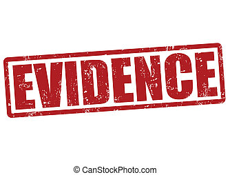 Evidence stamp - Evidence grunge rubber stamp on white,...