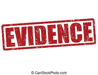 Evidence stamp - Evidence grunge rubber stamp on white, ...