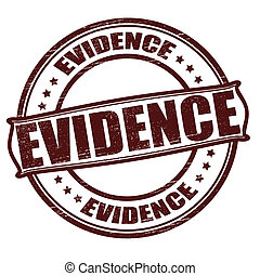 Evidence - Stamp with word evidence inside, vector...
