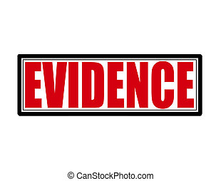 Evidence - Stamp with word evidence inside, vector ...