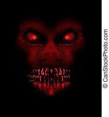 Evil Ape Monster Portait