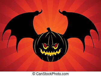 Evil Bat Pumpkin