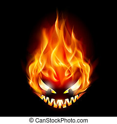 Halloween symbol - Evil burning Halloween symbol. ...