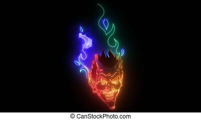Evil burning Halloween symbol. video animation