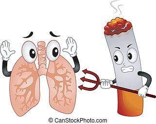 Evil Cigarette Mascot - Mascot Illustration Featuring an ...