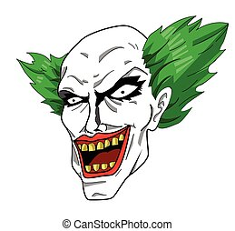 Evil clown head